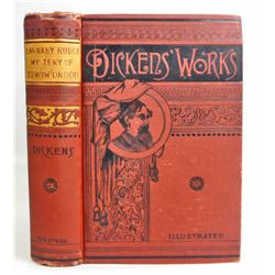 "ANTIQUE CHARLES DICKENS ""BARNABY RUDGE AND EDWIN DROOD"" HARDCOVER BOOK"