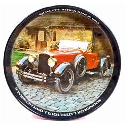 VINTAGE QUALITY TIRES ADVERTISING BEER TRAY