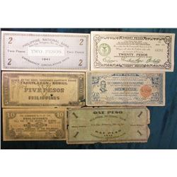 "Scarce group of World War II Philippines Islands Emergency Currency: ""Issued by the Bohol Emergency"