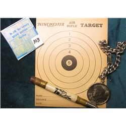 """Winchester Air Rifle Target"" advertising ""Air Rifle Shot"" on the Reverse; Advertising Pull-out Penc"