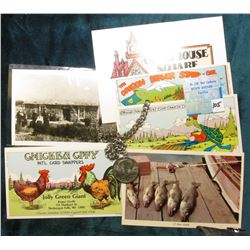 (6) Different old Post Cards (one depicts Pioneers in front of a Sod house);  & 1776-1976 D Bicenten