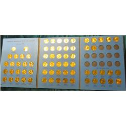 1959-85 Partial Set of Lincoln Cents in a Whitman Coin Folder. Nearly all are BU.