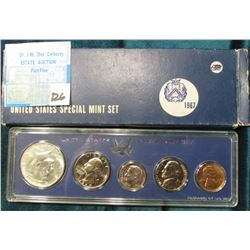 1967 P U.S. Special Mint Set with Silver Half Dollar. Original as issued.