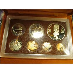 1975 Coins of the Cook Islands 7 pc. Proof Set in original holder of issue. The Crown depicts the Fe
