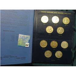 1941-47 Short Set of AU to Uncirculated Walking Liberty Half Dollars in a Whitman Album. (20 coins).