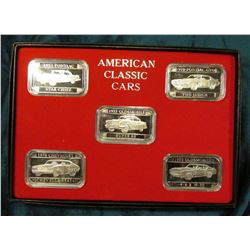 """American Classic Cars"" Art bar 1 Ounce .999 fine silver in each of five pieces. 1955 Pontiac Star C"