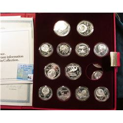 1980 Olympic Coin Collection missing one Ten Rouble Coin. All encased and in original box of issue w