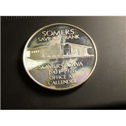 "1901-1976 ""Somers Savings Bank Somers, Iowa"", ""United State Independence Hall 1776-1976 Bicentennial"