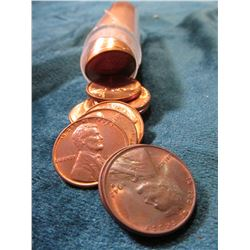 "1942 D Original Gem BU Roll of Lincoln Cents in a plastic tube. My ""Coin Dealers Newletters"" shows a"
