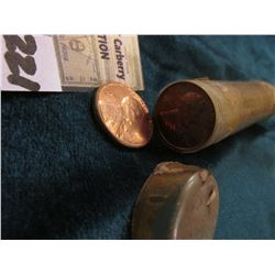 1954 P Original BU Roll of Lincoln Cents. This plastic tube has done some shrinking as well but the
