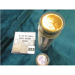 1949 D BU Lincoln Cent Roll. This roll of rarities still exhibits full mint luster and should exhibi