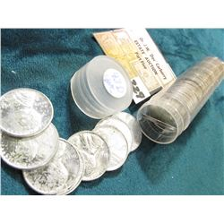 1943 D Original Gem BU Roll of Lincoln Cents in a plastic tube. Lots of oxidation on the coins in th