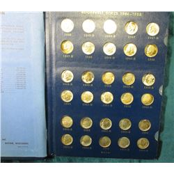1946-70 Near Complete Set of Roosevelt Dimes in Gem BU or Proof. Missing 1950 D & 67 P only. (57 coi