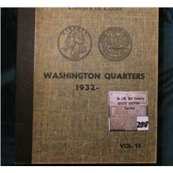 Library of Coins Washington Quarters Album with a partial Set of Quarters 1934-62, with an extra 193