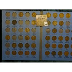 1909-1940 Partial Set of Lincoln Cents in a Whitman folder. Includes 1909P, 13D, 15D, & other scarci
