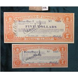 March 7, 1933 Urbana, Illinois MS #:  IL355-.50 & a Rare Unlisted $5.00. Issuer:  Association of Com