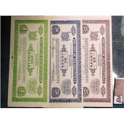"1933 era Depression Scrip ""The City of Pleasantville New Jersy…"" .25c, .50c, & $1.00. All CU."