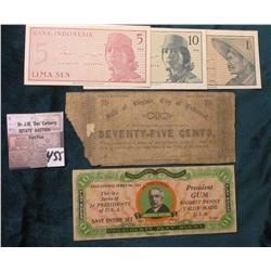 """State of Virginia, City of Richmond"", April 14th, 1862 ""Seventy-Five Cents"" Civil War Bank note, lo"