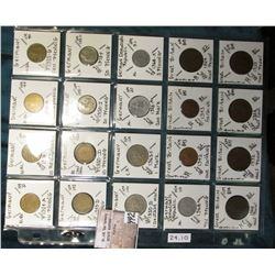 "(20) World Coins in a Plastic Page, identified in 2"" x 2""s. Includes Germany, German Democratic Repu"