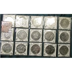 (10) Different New Orleans Mardi Gras Tokens. 38mm.