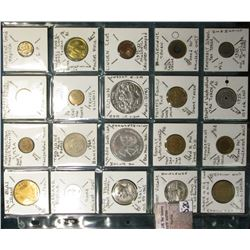 (20) different tokens, rejects, Ancient Replicas, Pope Paul, Mardi Gras, etc.