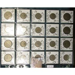 "(20) Great Britain Coins in a Plastic Page, identified in 2"" x 2""s. Includes ten new pence to 2 Shil"