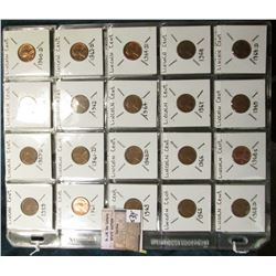 Lincoln Memorial Cents Copper 1959 thru 1982 D. One each all Mints. (52 pcs.).