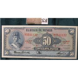 1961 Mexico Fifty Peso. (American Bank Note Co.) CU.