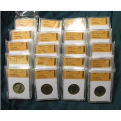 (20) 1979 P Susan B. Anthony Dollars. All slabbed SGS MS70.