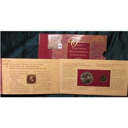 """""""The Thomas Jefferson Coinage and Currency Set. Original as issued. Includes the 1993 P Thomas Jeffe"""