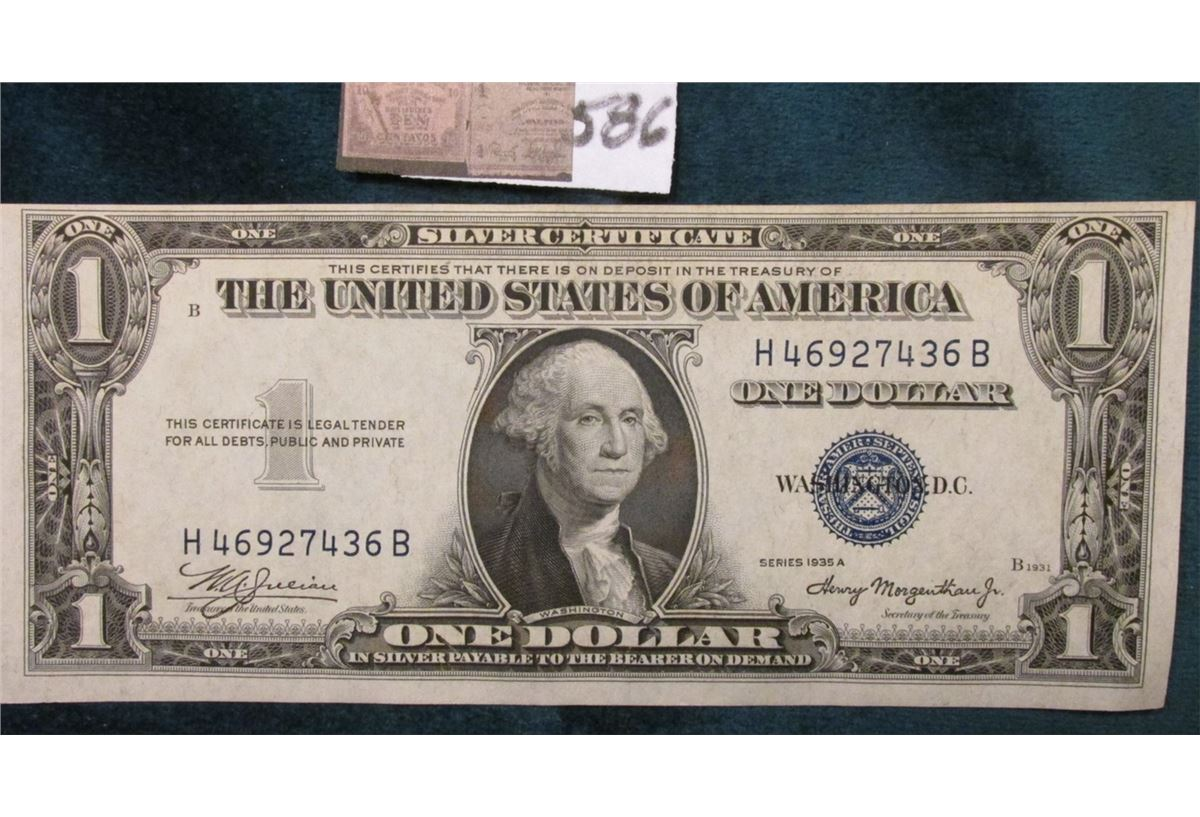 Series 1935a One Dollar Silver Certificate Macro Plate No B1931