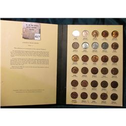 1941-1961 Complete Set of Lincoln Cents in a Library of Coins Album, grades up to BU.