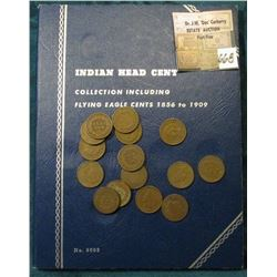 Used Whitman Coin Folder Indian Head Cents 1856-1909, and a little packet of Indian Head Cents that