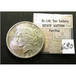 1921 P High Relief U.S. Peace Silver Dollar. Superb Gem BU.  As nice as it gets!!!