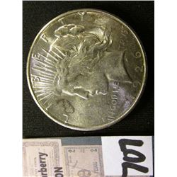 1926 S U.S. Peace Silver Dollar. Brilliant Uncirculated.