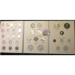 Partial 20th Century Type Set of U.S. Coins in a Littleton Coin Co. Custom album. Includes (5) Cents