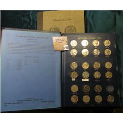 Library of Coins Roosevelt Dime Album, empty; 1965-81 Nearly Complete Set of Jefferson Nickels Inclu