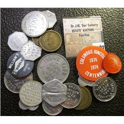(20) Various Tokens, Elongates, & Dairy Tokens.
