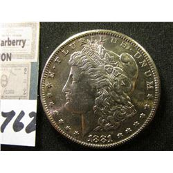 1881 S Morgan Silver Dollar. Superb Original Toned Gem BU.