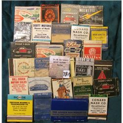 (27) Old Antique Match Book Covers, which 'Doc' had priced at $5 each.