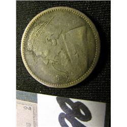 "1896 South Africa Silver Six Pence engraved  (similar to a Hobo Nickel) Depicts Kruger with ""Pipe"" &"