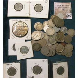(11) World War II U.S. Steel Cents; (3) 1919 P & (1) 28 P Buffalo Nickels; 1911 P Lincoln Cent; 1861