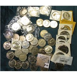 Group of Uncirculated or Proof Kennedy Half Dollars: 1971P, (5) D, (2) 72D, 72S Proof, 73D, (5) 74P,