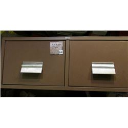 "Two-drawer Metal Filing Drawer ""H.O.N"" Muscatine, Iowa. To be sold on auction floor, not shipped."