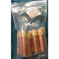 (10) Uncirculated Rolls of 1957 Canada Maple Leaf Cents in plastic tubes. (Total face value $5.00).