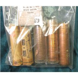 "(5) 1960 D Gem BU Lincoln Cent Rolls, at least one is marked ""Small Date""."
