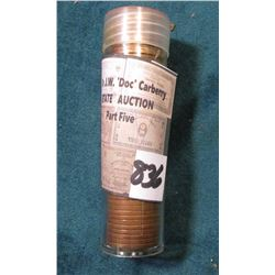 1954 D Original BU Roll of Lincoln Cents in a plastic tube.