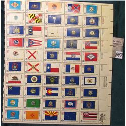 Bi-centennial Fifty States Flags Full Mint Sheet of 13c Stamps. %6.50 face value in Mint, unused pos