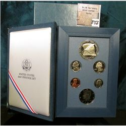 1987 S Silver Prestige U.S. Proof Set in original holder and box as issued.