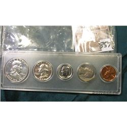 1954 P U.S. Proof Set in a Snap-tite case. A nice Gem set with the Nickel displaying irridescent ton